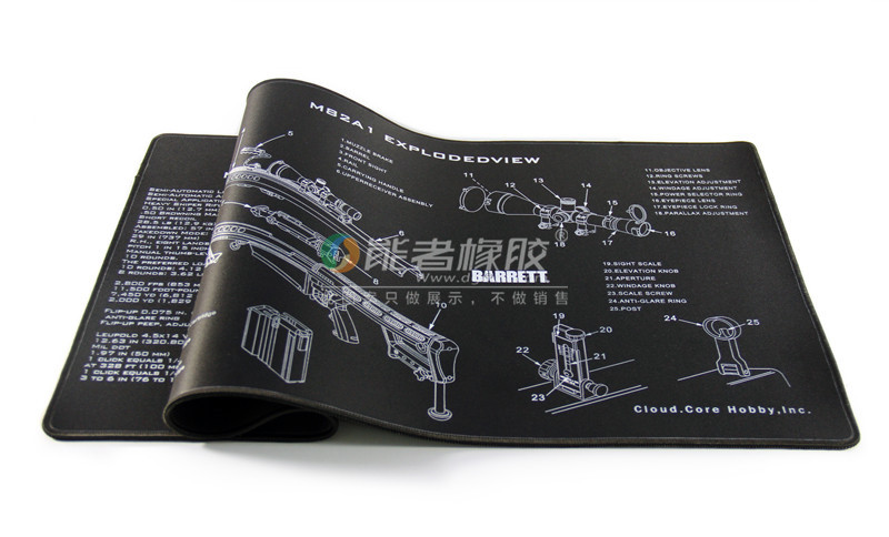 能者橡胶专业生产枪支装配垫(枪垫、枪支清洁垫)